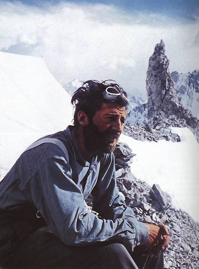 Hermann Buhl (Герман Буль) после восхождении на Броуд Пик (Broad Peak, 8051 м) 9 Июня 1957 г