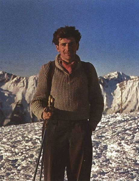 Hermann Buhl (Герман Буль) на вершине Patscherkofel, 1952 год