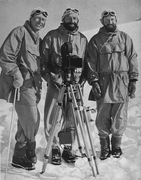 С лева направо - Dr. Walter Frauenberger, Hans Ertl, Hermann Buhl