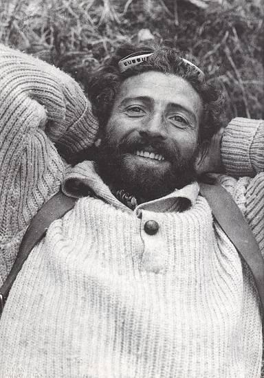 Hermann Buhl (Герман Буль) после восхождения на  Нанга Парбат (Nanga Parbat, 8126 м)