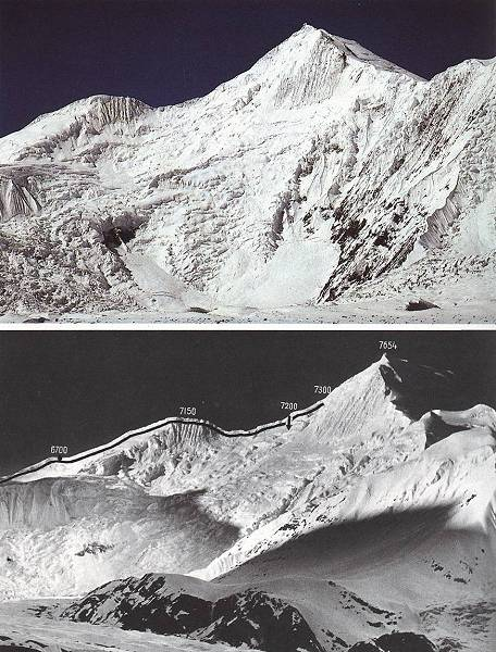 Северный склон Chogolisa. Место исчезновения Германа Буля