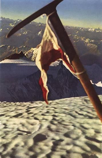 Фото сделанное Германом Булем в подтверждение покорения Нанга Парбат