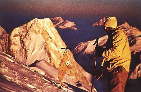 Hermann Buhl (Герман Буль) на вершине Броуд Пик (Broad Peak, 8051 м)