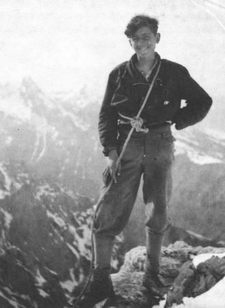 Герман Буль в возрасте 14 лет в Karwendel