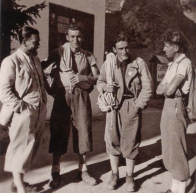 Джино Солда (GINO SOLDA) и Umberto Conforto в 1936 после первого покорения Marmolada