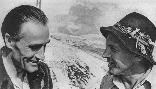 Джино Солда (GINO SOLDA) и Ханс Краус (Hans Kraus) в Доломитах
