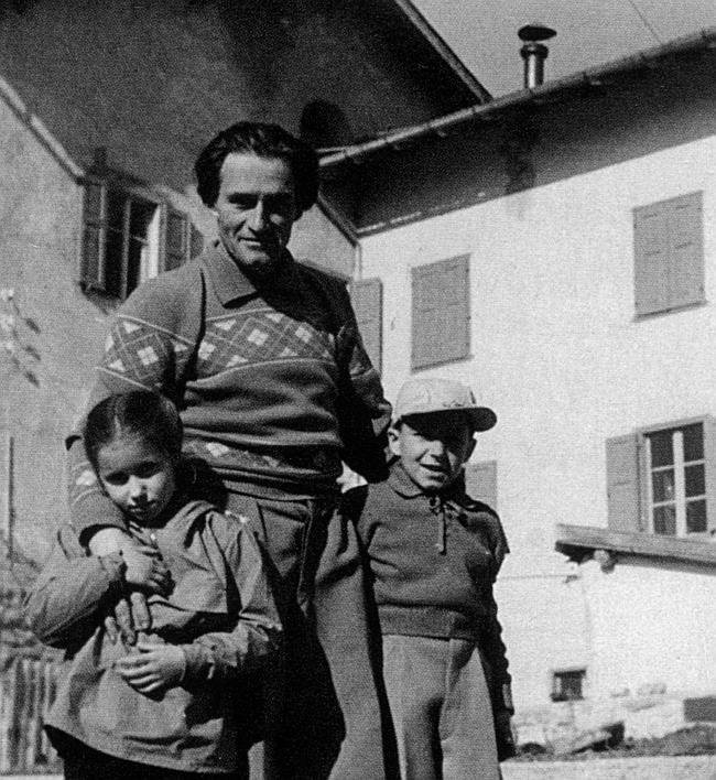 Джино Солда (GINO SOLDA) со своими сыновьямиEvi и Manlio