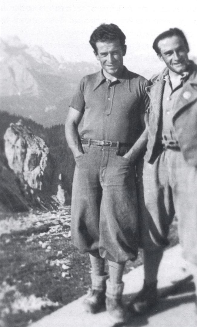 Джино Солда и Raffaele Carlesso после восхождения по «Cassin-Ratti» на Cima Ovest di Lavaredo