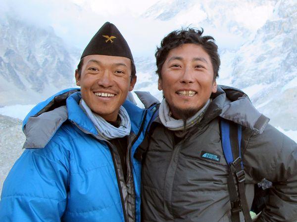 Lakpa Tsheri Sherpa и Sano Babu Sunuwar