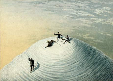 «На вершине Монблана», George Baxter, 1853.