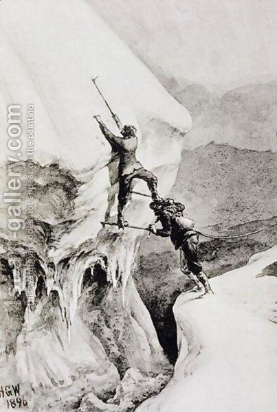 иллюстрация под названием «это возможно» из книги «Scrambles Amongst»  Edward Whymper 1871 год