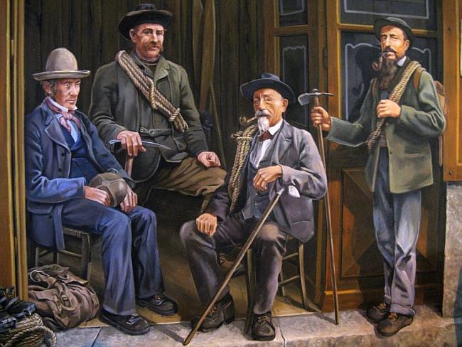 Фреска: горные гиды из Compagnie des guides de Chamonix