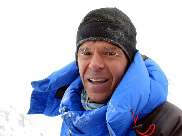 Gerfried Göschl на высоте 6300. Гашербрум 1, зима 2012