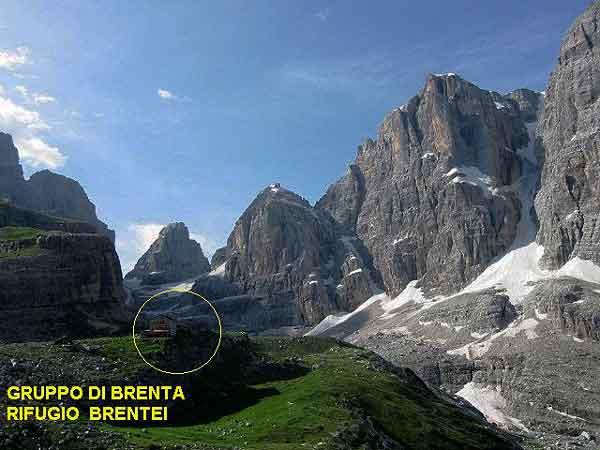 Хижина Brentei в Dolomiti di Brenta