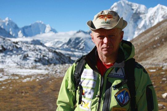 Олег Палий во время экспедиции на Пумори и Ама-Даблам