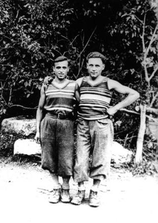 Рикардо Кассин (Riccardo Cassin) справа. 1931 год