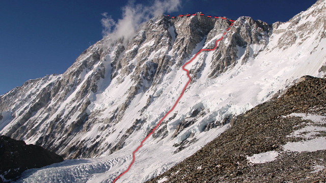 маршрут Ueli Steck на Шиша Пангма (Shishapangma (8,013 м))