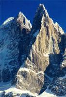 Пти-Дрю. Северный и Западный склон. Слева - Aiguille Verte