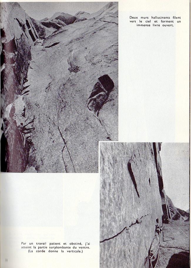 Самый сложный участок маршрута по Западному склону Дрю: 90 метровый внутренний угол. Guido Magnone