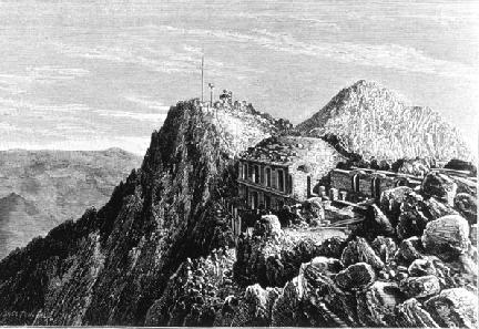 строительство обсерватории на вершине пика Дю Миди (Pic du Midi) в 1878 году