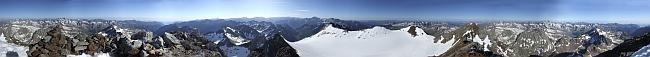 панорама с вершины Vignemale