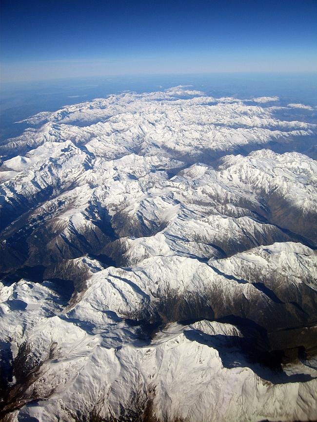 Пиренеи. Над горой Anetto с видом на Запад. Февраль 2007 года