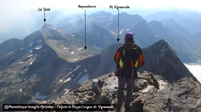 вид с Vignemale (Grand Vignemale - Pique-Longue (3298m)
