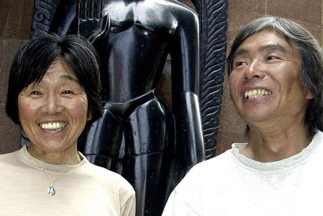 Tamae Watanabe (слева) в 2004 году