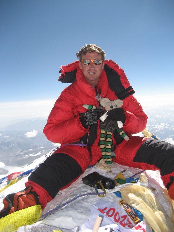 Kenton Cool на вершине Эвереста