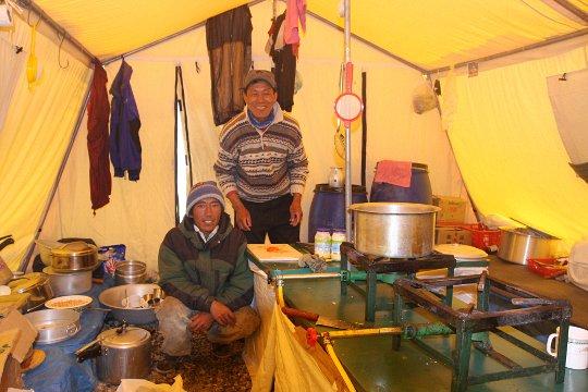 Кухня украинской экспедиции на Эверест