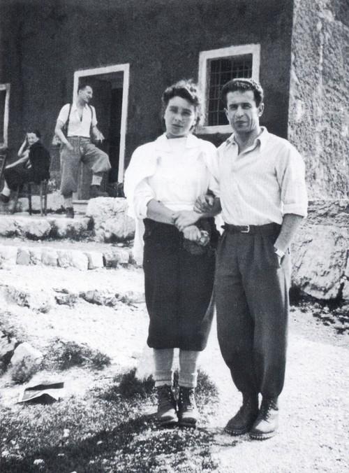 Рафаэль Карлессо (Raffaele Carlesso)  1939 год на перевале Campogrosso с Mariuccia Ciprian