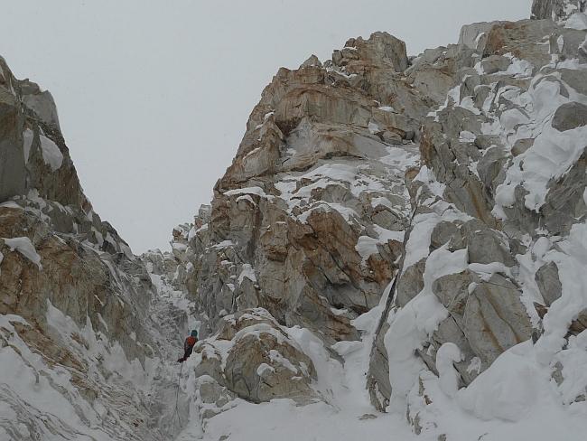 """ледовый коридор на маршруте """"Theoreme de la Peine"""" на Латок II"""