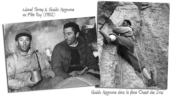 Guido Magnone и Леонель Террай на Фитц-Рой и Guido Magnone на Пти-Дрю