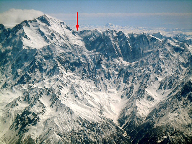 Вид на Нанга Парбат и хребет Mazeno