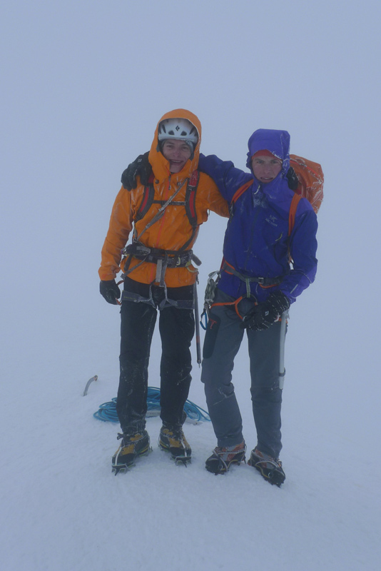 Luka Krajnc и Luka Lindič на вершине Монблана