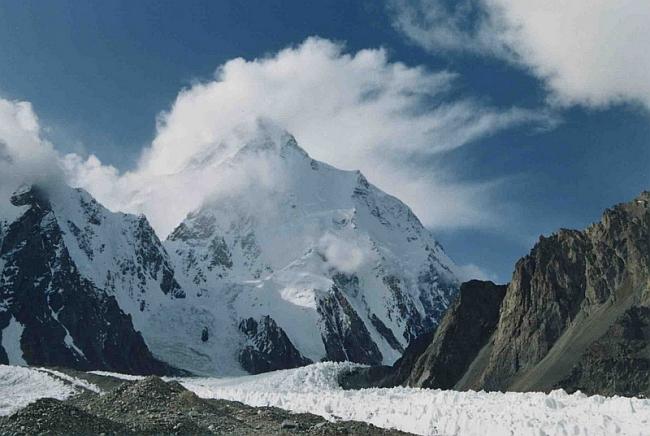 пик К-2 (Чогори) 8611м. снимок с ледника Балторо