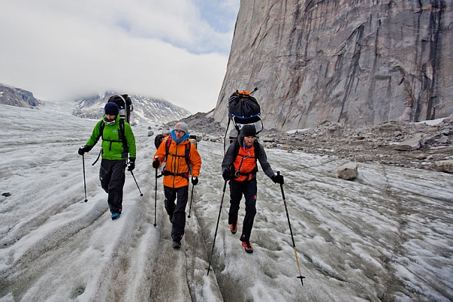 Eneko Pou, Iker Pou и Hansjörg Auer на Баффиновой Земле