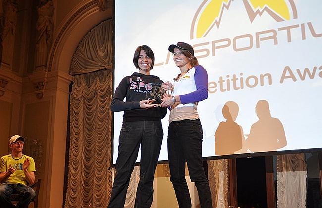 Arco Rock Legends 2012: Giulia Delladio (La Sportiva) и Anna Stöhr