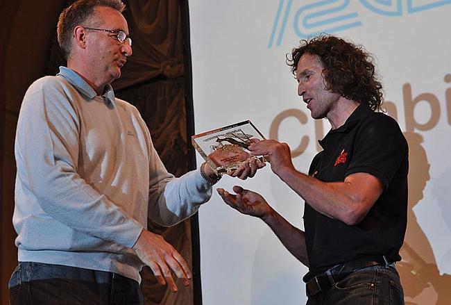 Arco Rock Legends 2012: Giuseppe Crippa (директор Aquafil) и Stefan Glowacz