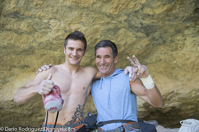 Francisco Novato Marin со своим сыном Edu Marin в Rodellar