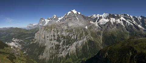Панорама на Eiger, Mönch и Jungfrau