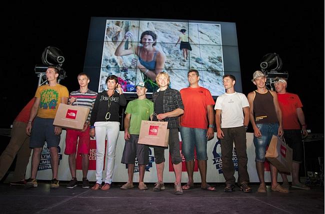 Призеры BIG марафон Kalymnos Climbing Festival 2012.