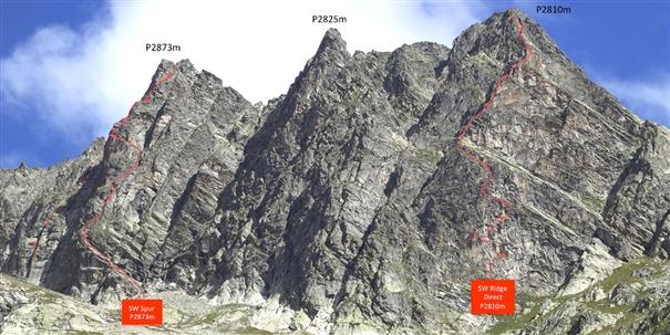 Массив Mont Vert de Greuvettaz с двумя новыми маршрутами: