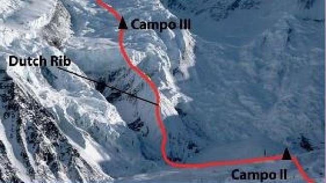 Место схода лавины на Аннпурне