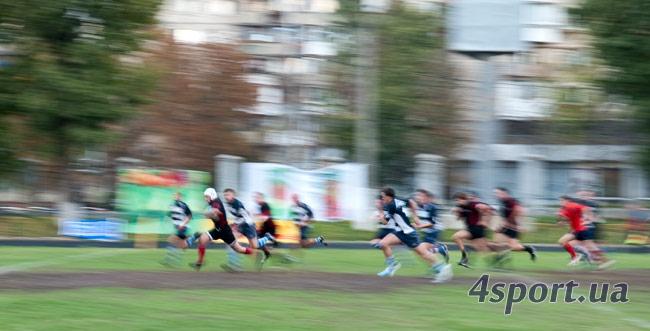 Матч между участниками Чемпионата Украины по регби среди команд высшей лиги – «Эгером» и «Роландом»