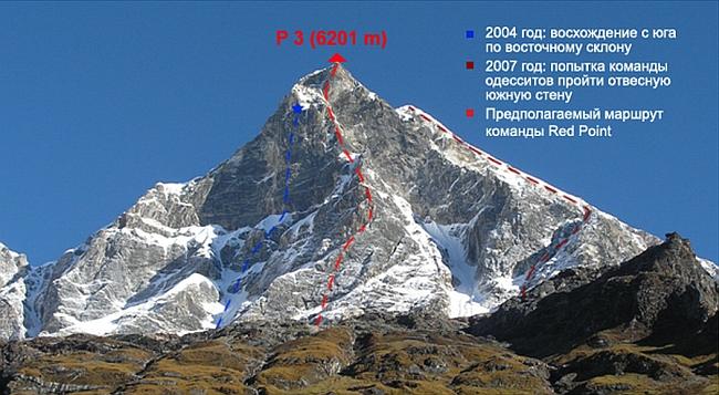 Пик Украина (Simnang Himal/P2, 6201 м)