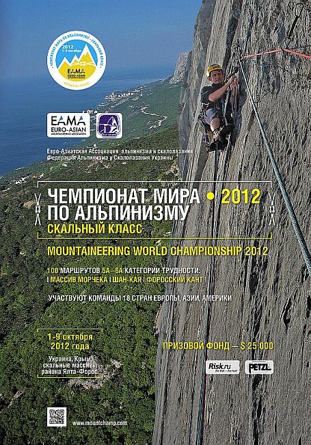 Чемпионат Мира по альпинизму (класс соревнований - скальный, очные соревнования)