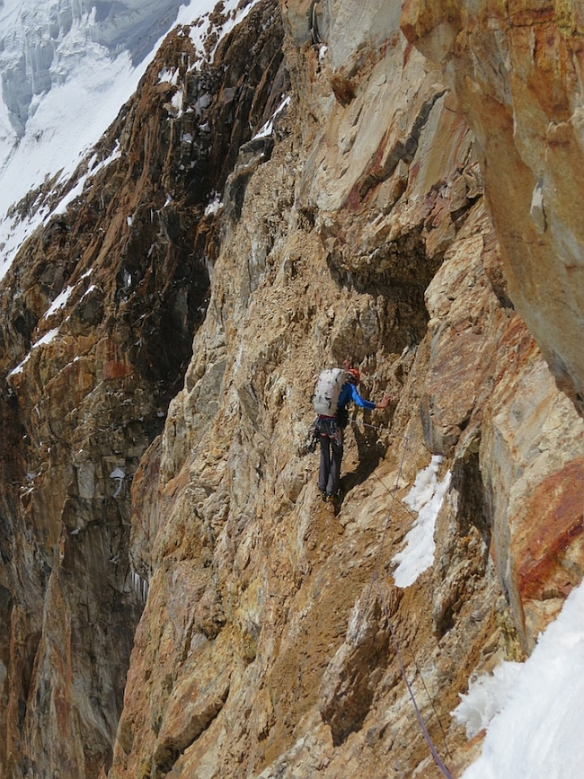 Хайден на отметке 6300 метров. Наш путь через скалистые осыпащиеся сланцы