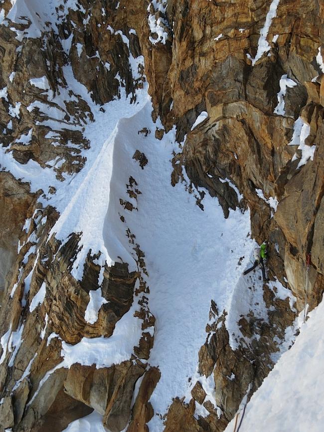 Отметка 6800 метров - подход к нашему второму бивуаку
