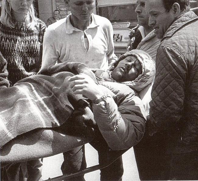 Пьер Мазо (Pierre Mazeaud) доставлен вертолетов в Курмайор